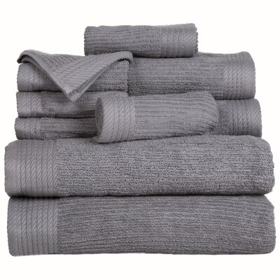 Pernelia 10 Piece Egyptian Quality Cotton Towel Set Color: Silver