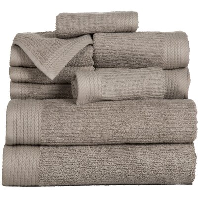 Pernelia 10 Piece Egyptian Quality Cotton Towel Set Color: Taupe