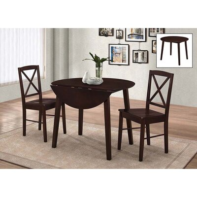 Wiley 3 Piece Dining Set Finish: Cappuccino