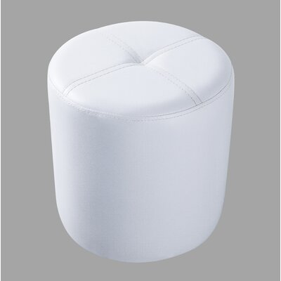 Maxine Round Stool Color: White