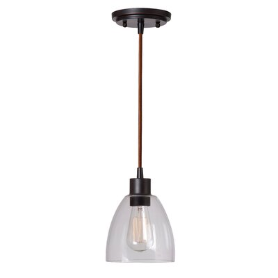 Cyrus 1-Light Mini Pendant Finish: Oil Rubbed Bronze
