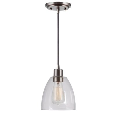 Cyrus 1-Light Mini Pendant Finish: Brushed Steel