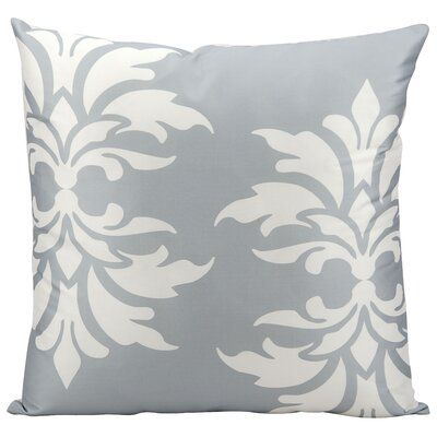 Eudora Double Outdoor Throw Pillow Color: Grey