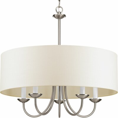Burton 5-Light Drum Chandelier Finish: Brushed Nickel