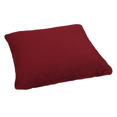 Bennett Floor Pillow Color: Burgundy
