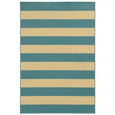 Alford Blue/Ivory Indoor/Outdoor Area Rug Rug Size: 67 x 96