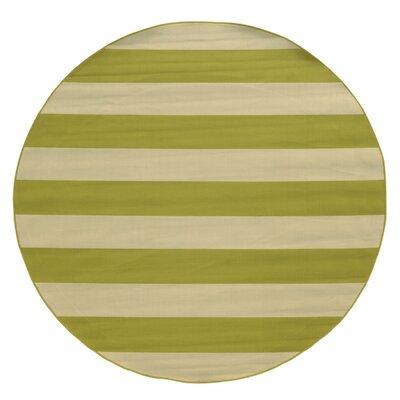 Alford Green Indoor/Outdoor Area Rug Rug Size: Round 710