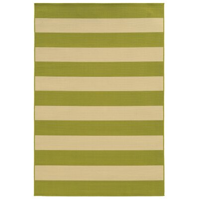 Alford Green/Ivory Indoor/Outdoor Area Rug Rug Size: 19 x 39