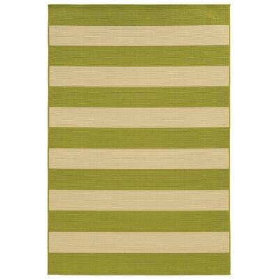 Alford Green/Ivory Indoor/Outdoor Area Rug Rug Size: 86 x 13