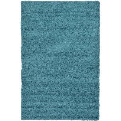 Lilah Basic Slate Blue Area Rug Rug Size: 2'2