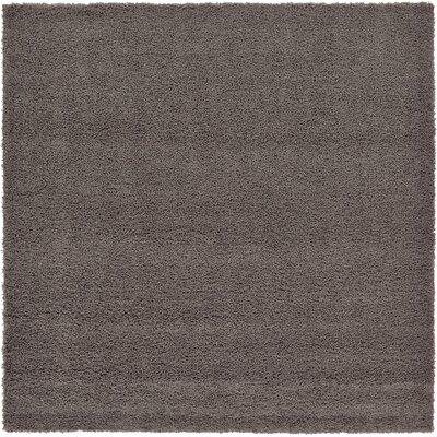 Lilah Dark Gray Area Rug Rug Size: Square 82