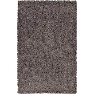 Lilah Dark Gray Area Rug Rug Size: 5 x 8