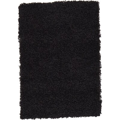 Lilah Black Area Rug Rug Size: 4 x 6