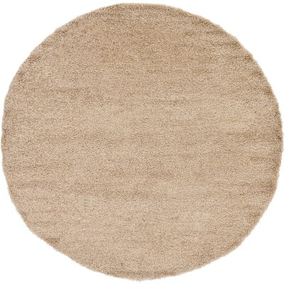 Lilah Beige Area Rug Rug Size: Round 6
