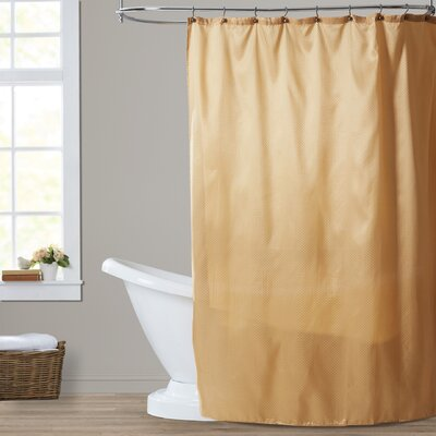 Dexter Shower Curtain Color: Gold
