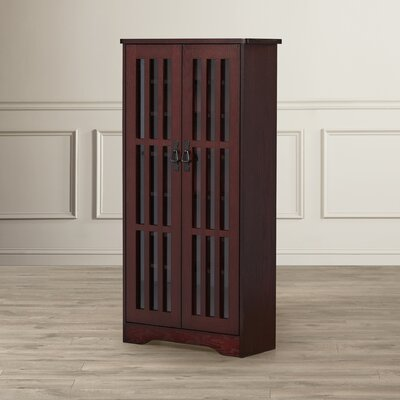 Jones Multimedia Disc Cabinet Finish: Dark Cherry
