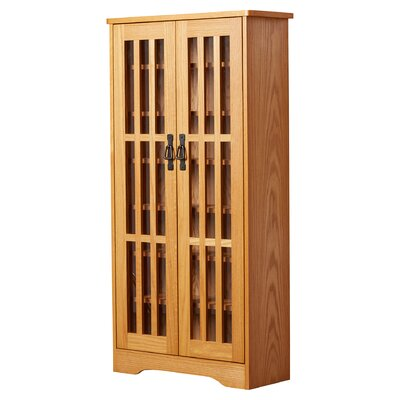 Jones Multimedia Disc Cabinet Finish: Oak