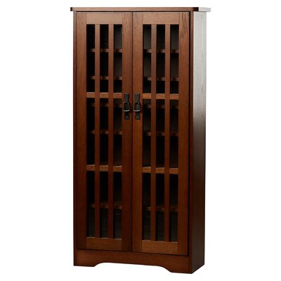 Jones Multimedia Disc Cabinet Finish: Walnut