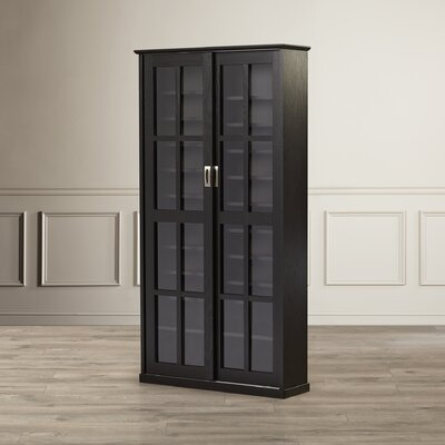 Jones Multimedia Cabinet Finish: Black