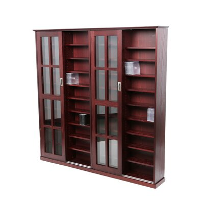 Jones Multimedia Cabinet Finish: Dark Cherry