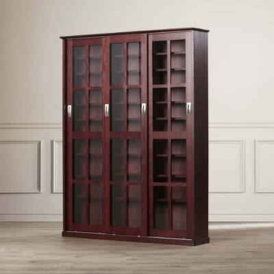 Jones Standing Multimedia Cabinet Color: Dark Cherry