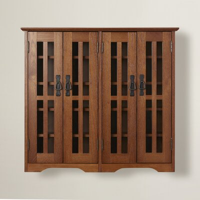 Jones Multimedia Wall Cabinet Finish: Walnut