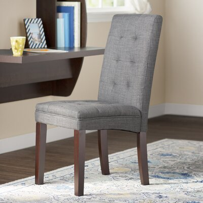 Gardner Side Chair (Set of 2) Upholstery: Gray