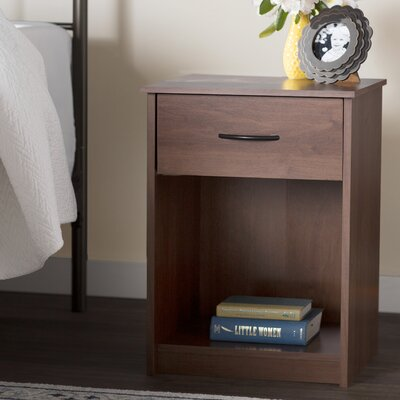 Bowdoin Hill 1 Drawer Nightstand Finish: Alder