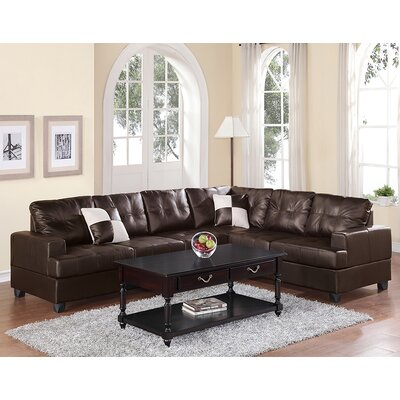 Dalton Reversible Sectional Upholstery: Espresso