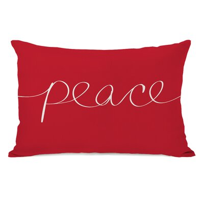 Ursula Peace Mix and Match Throw Pillow Color: Red