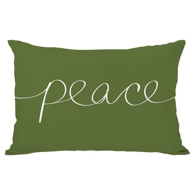 Ursula Peace Mix and Match Throw Pillow Color: Green