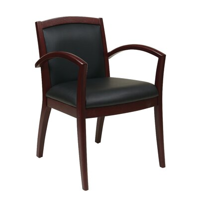 Roxanne Full Cushion Back Eco Leather Guest Chair Finish: Mahogany