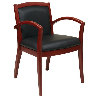 Roxanne Full Cushion Back Eco Leather Guest Chair Finish: Cherry