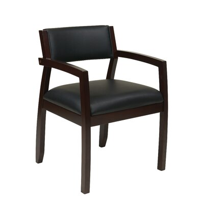 Roxanne Upholstered Back Leather Guest Chair Finish: Espresso