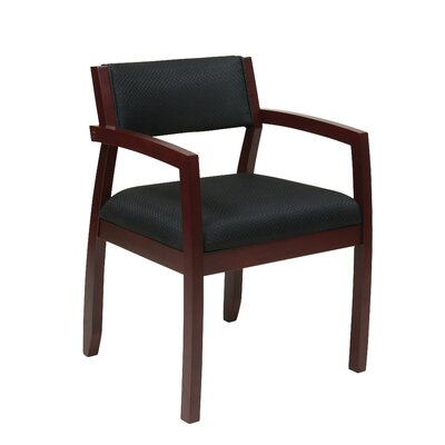 Roxanne Upholstered Back Guest Chair Finish: Mahogany