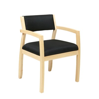 Roxanne Upholstered Back Guest Chair Finish: Maple