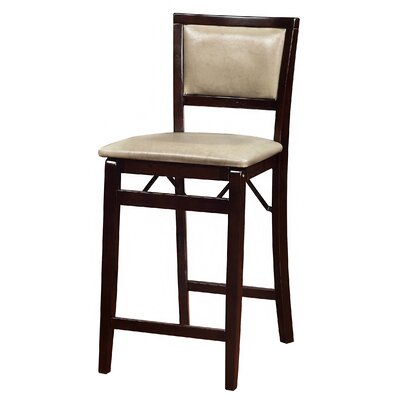 Clarke 24 Bar Stool  in Dark Brown Upholstery: Jute