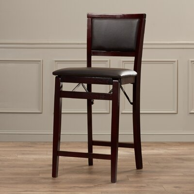 Clarke 24 Bar Stool  in Dark Brown Upholstery: Dark Brown