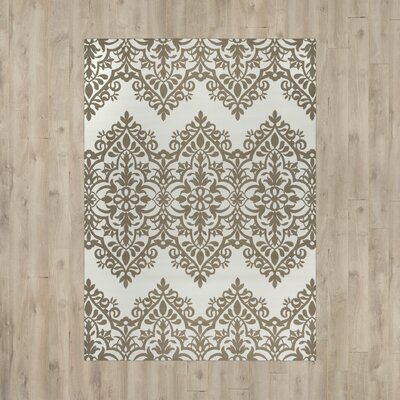Pearl Ivory Indoor/Outdoor Area Rug Rug Size: 53 x 77