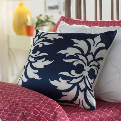 Eudora Double Outdoor Throw Pillow Color: Navy