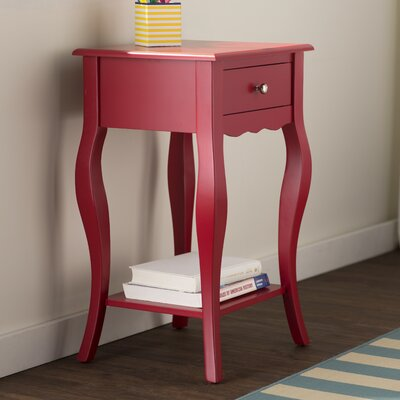 Elvina End Table Finish: Red