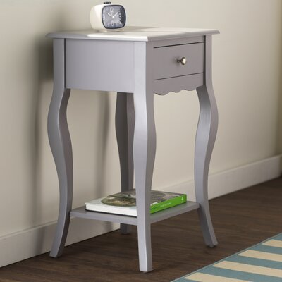 Elvina End Table Finish: Gray