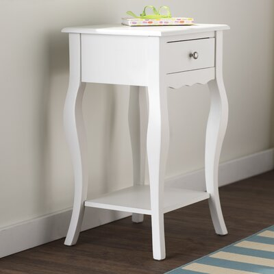 Elvina End Table Finish: White