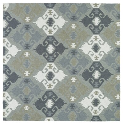 Cavour Traditional Handmade Pewter Green Indoor / Outdoor Area Rug Rug Size: Square 59