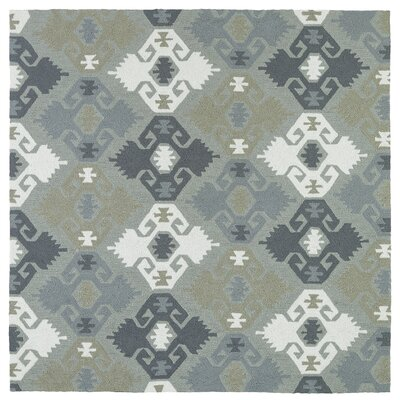 Chloe Handmade Pewter Green Indoor / Outdoor Area Rug Rug Size: Square 79