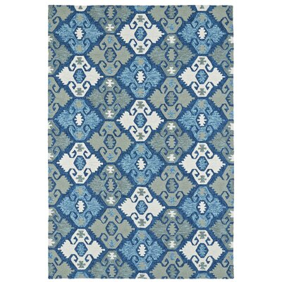 Chloe Handmade Blue Indoor / Outdoor Area Rug Rug Size: 2 x 3