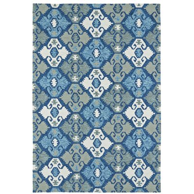 Cavour Handmade Blue Indoor / Outdoor Area Rug Rug Size: Rectangle 5 x 76