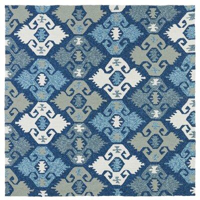 Chloe Handmade Blue Indoor / Outdoor Area Rug Rug Size: Square 59