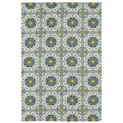 Chloe Handmade Pewter Green Indoor / Outdoor Area Rug Rug Size: 10 x 14