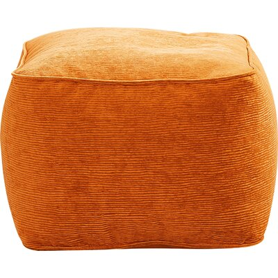 Haskell Pouf Upholstery: Orange